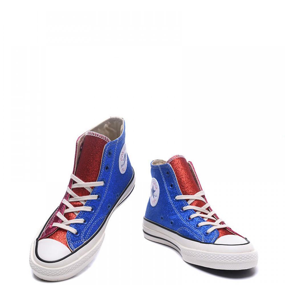 1cf0fada460ab6 J.W. Anderson x Converse Glitter Chuck 70s High Top Green Blue