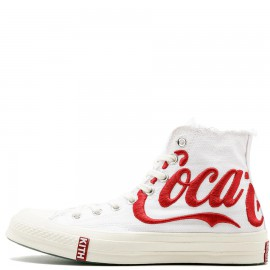 Kith x Coca-Cola x Converse Chuck Taylor All Star High White High