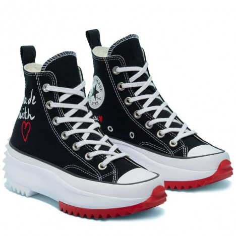 Made With Love Run Star Hike Black Hi Convese Shoes