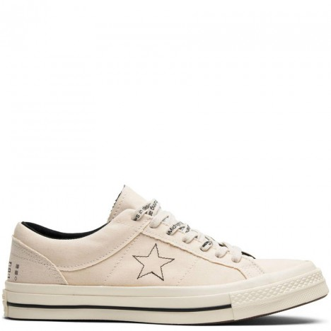 Midnight Studios x One Star Beige Low Skate Shoes