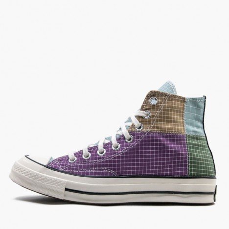 Multicolor Converse Unisex Chuck 70 Hi Quad Ripstop Canvas Shoes
