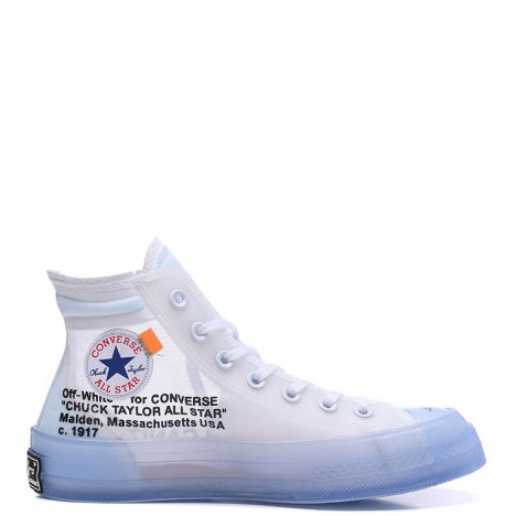 Off-White x Converse The Ten Chuck Taylor 70s Transparent High Blue