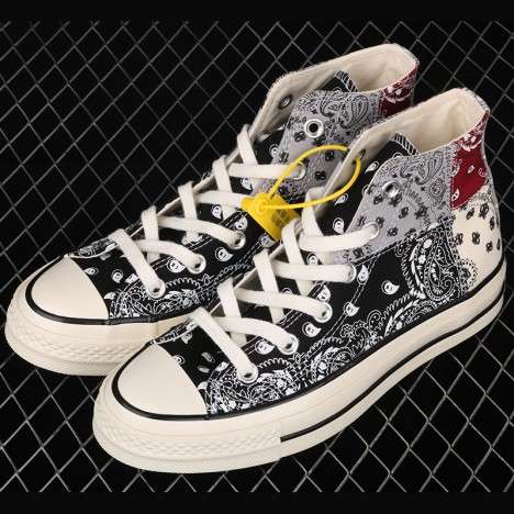 Offspring Wraps Converse Chuck 70 in Patchwork Paisley Pattern Multicolor High Top Shoes