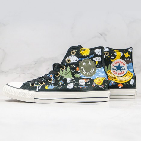 Older Kids Girls Camp Converse Chuck Taylor All Star High Top Canvas Amarillo Black