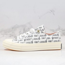 Retro Converse J Balvin Willy William 3D Print Black Letter Low White Canvas Shoes