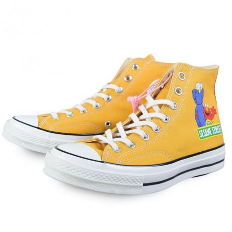 Sesame Street Elmo Cartoon Converse Chuck 1970s High Yellow