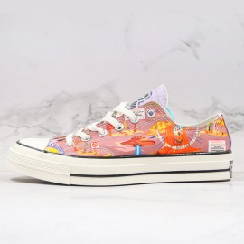 Twisted Resort Chuck 70 All Star Unisex Low Top Egret Multi Black Shoes