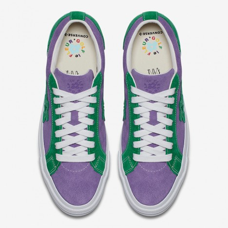Tyler The Creator x Converse One Star Golf Le Fleur Suede Shoes