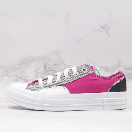 Unisex Converse Chuck 70 Patchwork Low Top Purple White Gray