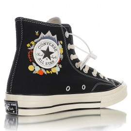 Vintage Converse Chuck Taylor 70s Embroidery High Tops Black