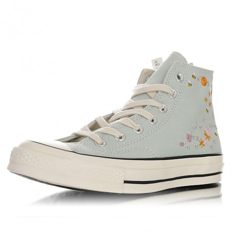 Vintage Converse Embroidered Chuck Taylor All Star 1970s Hi