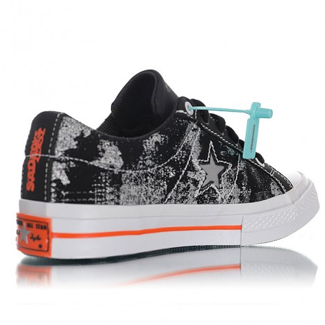 Yung Lean Sad Boys x Converse One Star Suede OX Low Black